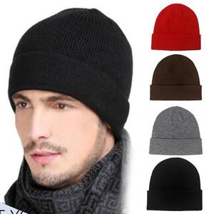 Men's Autumn Winter Beanie Hat Washable Solid Color Warm Breathable Soft Men Women Knitted Hat Gorra Hombre