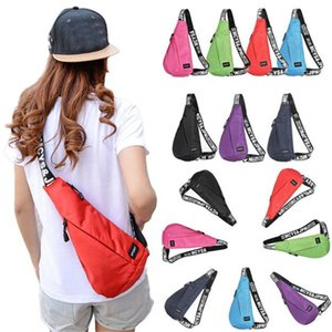 Sling Hiking Chest Bags Unisex Waterproof Shoulder Messenger Unbalance Backpack Cycling Bicycle Accessories Top Quality Jane 12