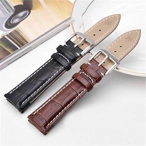 18mm 19mm 20mm 21mm 22mm 22mm Mens veaux de veau véritable en cuir véritable bracelet de montre à grain alligator bracelet pour femme1
