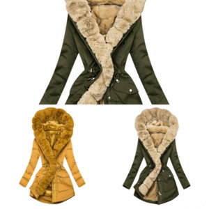 EsJMC Best Winter Hot Sale girl metallic coat Face North Fur collar Denali Apex Bionic Jackets Outdoor Casual SoftShell Warm Waterproof