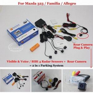 Liislee Araç Park Sensörleri Arka Görüş Kamerası = 2 323 / Familia Allegro Bibi Alarm Park Sistemi İçin 1 Görsel m / m