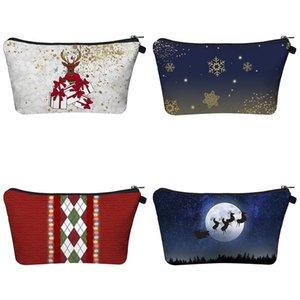 Bag Christmas Women's Style Travel Handbags Save Mask Cosmetics Washing Cute Purse Zipper Makeup Storage Pencil Bags