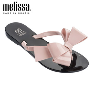 Melissa Harmonic Bow III Adulto Femmes Jelly Chaussures Chaussons plats Sandales 2020 Nouveaux Femmes Jelly Flip Flop Melissa Femme Chaussures plates