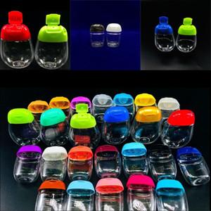 فارغة زجاجات المطهر اليد 30ML القطع الناقص البلاستيك واضحة منفصلة تعبئة في الهواء الطلق السفر المحمولة زجاجة غسول 0 59RL G2