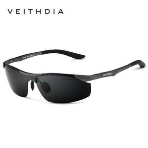 Lunettes de soleil Veithdia Lunettes de soleil Veithdia Aluminium Polarized Hommes pour hommes pour la mode mâle Goggle 6529 Verres UV400 Accessoires de designer Oculos Sun Aktvf