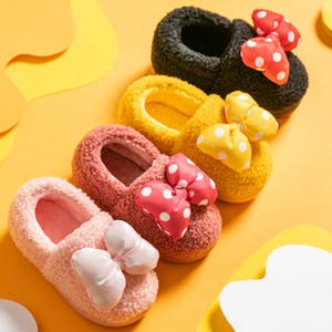 Children Slippers Winter Warm Kids House Shoes Baby Girl with Plush Girls Indoor kids fur slides warm boot 201105