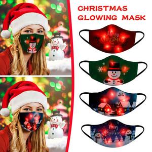 Noel Yukarı LED Işık Parlayan Noel Erkekler Ve Kadınlar mutlu yeni yıl 2021 Navidad hediye 2020 için Işıklar Parlayan Maske Maske