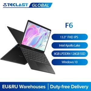 Teclast F6 Laptop 13.3 Inch FHD IPS 1920x1080 Intel Apollo Lake Windows 10 Notebook 8GB LPDDR4 128GB SSD Dual Wi-Fi