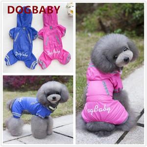 델 애완 동물을위한 옷을 빌려 S-XXL 여름 새로운 방수 코트 비오는 페로 개 애완 동물 고양이 비옷 일 융화 개 모자 의류 yxlmK으로