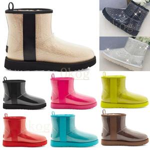 Дизайнер Австралийский Классический Classic Clear Mini Boots Dune Mini Пряжка Австралия WGG Женщины Женские Девушки Леди Ботинок Снег Половина колена Короткие 36-42 CB73 #