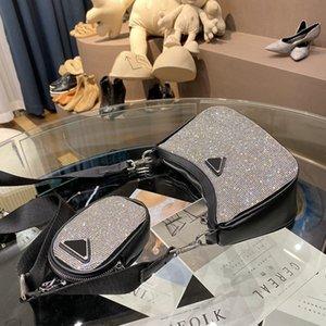 Mode Hadbags Femelle Sacs à bandoulière Femme Sac Sac Haute Quality Sac Diamant Cowhide Mid-Taille Top Rank Vente Chaude Rétro Spécial Nouveau Style Sac à main
