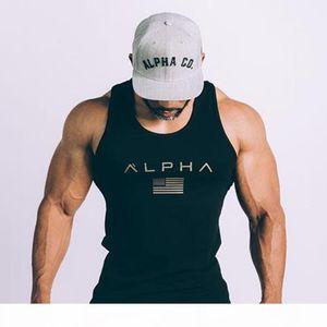 Men Running Vest Cotton Tank Top Man Gym Fitness Bodybuilding Sleeveless shirt Male Crossfit Training Workout Undershirt Apparel