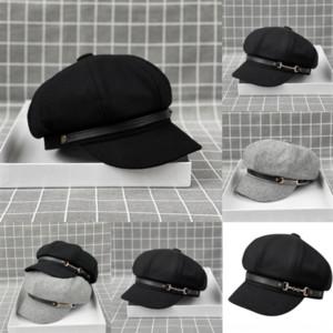 LQO Fashionelegant Alta Qualidade de Alta Qualidade Haute Meninas Newsboy Chapéus Berets Inverno Outono Hot chapéus Britânicos Estilo Couture Erets Artista