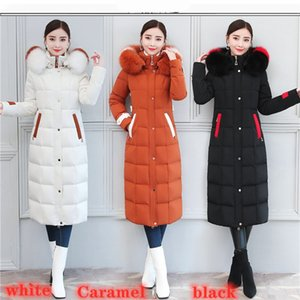2020 New Really Fox Big Fur Collar Long Down Jacket Women Below-the-Knee Length Thicken and Lengthen Luxury Slim