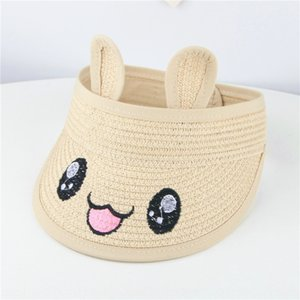 Children's empty-top sunshade straw hat male and female baby trendy cap summer sun hat 0-1-3 years old straw cap baby sunshade mvX5T