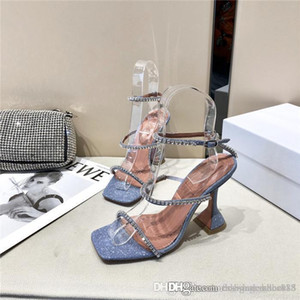 The summer classic crystal high heel sandal,Versatile and comfortable leather upper with high-heeled sandals With box size35-40cm