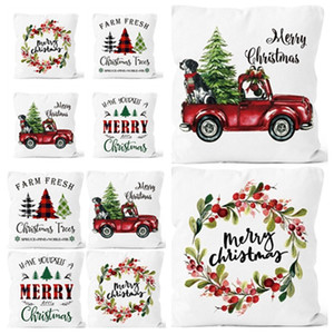 Christmas pillow cover washable and colorless car sofa cushion cover pillow case Christmas decorations Home Textiles T2I51675