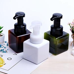 Botella de 250 ml cuadrado de la mano de jabón dispensador de la bomba espumador dispensador de loción facial Limpiador Líquido Champú Espuma Contenedores En Stock