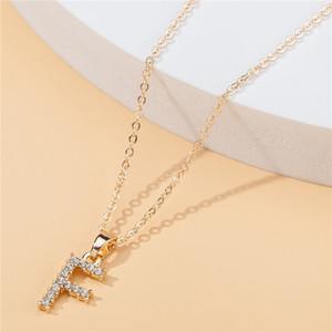 사용자 정의 편지 목걸이 여성 다이아몬드 목걸이 디자이너 목걸이 크리스탈 럭셔리 파리 펜던트 목걸이 체인 여성 또는 남자 L1-20