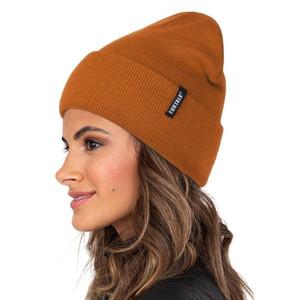 Furtalk Bahar Kadın İzle Bonnet Erkekler Örgü Bere Şapka Skullies Cap Kış Sonbahar Şapkalar Kadın için