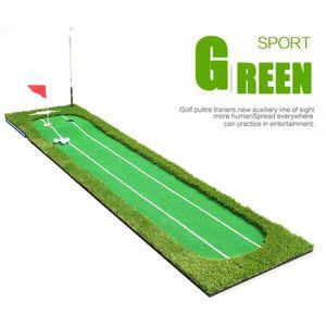 Crestgolf 9.84ft Golf carpet indoor practical green double base putter golf coach assistant