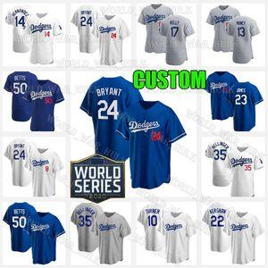 8 24 KB Bryant Negro Mamba Dodgers 16 Will Smith LeBron James Custom 23 74 21 Kenley Jansen Walker Buehler Betts camisetas de béisbol