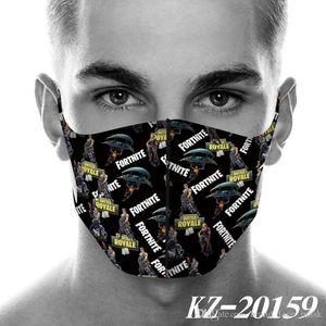 2020 NEW  face mask Fortress Night Printing Masks Dustproof Mask Fortnite Surrounding Fashion Masks Cosplay reusable face mask