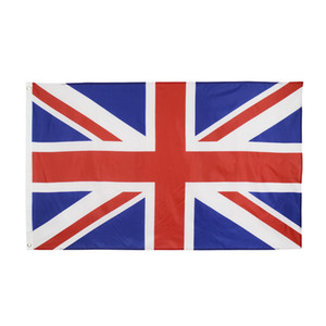 Wholesale high quality 90*150cm 3*5fts ready to ship stock 100% polyester england united kingdom uk national flag