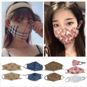Yıkanabilir Yeniden kullanılabilir Çift kumaş Kumaş Pamuk Bisiklet Yüz Maskeleri Yetişkin Çocuk Man Kadınlara toz geçirmez Toptan Tasarımcı Moda Yüz Maskeleri
