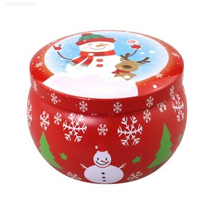 عيد الميلاد المعطرة المعلبة الشاي الروائح شمعة جرة هدية عيد الميلاد التخزين صفيح صندوق GWC2959