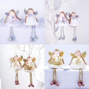 Encantador ángel niña muñeca árboles de navidad colgantes colgantes ornamentos regalos Navidad año nuevo fiesta decoración del hogar decoración GWB4189