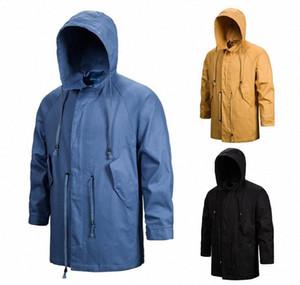 Diseñador de moda hoodie de la capa del invierno del otoño con capucha de la cremallera rompevientos deportes al aire libre a prueba de viento para hombre Ropa Hombres sobrecubiertas 47dt #