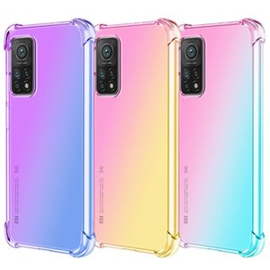 Gradient Soft Transparent Clear TPU Phone Case for Xiaomi Mi Note 10 Ultra 10T Lite Pro Poco X3 NFC Airbag Shockproof Cover