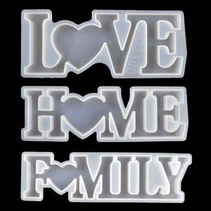 سيليكون راتنجات الايبوكسي الراتنج الحب المنزل الأسرة الأبجدية إلكتروني قوالب diy الجدول الديكور الفن الحرف قوالب
