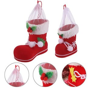 2pcs Candy Holder Reusable Flocking Adorable Durable Candy Shoes Candy Holder Boots Gift Bag For Christmas Party sqcUYy sports2010