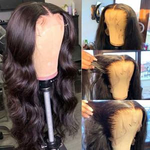 레이스 프런트가 인간의 머리 가발 바디 웨이브 가발 HD 투명 레이스 정면 가발 28 인치 정면 T PART 레미 브라질 헤어