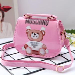 Kids Designer Handbags Print Mini Purse Shoulder Bags Baby Teenager Children Girls PU Messenger Gold Chain Bags Christmas
