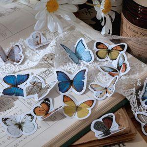46 Pcs Caixa dos desenhos animados Kawaii Sealing presente da colagem da borboleta adesivos decorativos Scrapbooking Back To School personalizado Planner adesivo jllZhj
