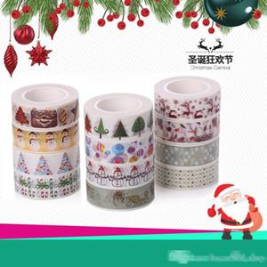 Christmas Tape Gift Wrap Tape Lashing Band Adhesive Gift Wrapping Cartoon DIY Decorative paste Santa Claus Japan and paper Free DHL