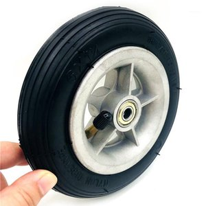 오토바이 6x1 1/4 타이어 150mm 스쿠터 인플레이션 휠 알루미늄 허브 내부 튜브 전기 스쿠터 4 인치 림 6 인치 공압 타이어 1