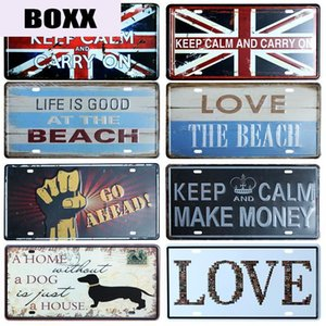 Love Our Life License Plate Store Bar Wall Decoration Tin Sign Vintage Metal Sign Home Decor Painting Plaques Poster