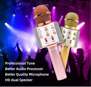 Factory wholes WS858 wireless USB microphone professional condenser karaoke mic bluetooth stand radio mikrofon studio recording studio WS858