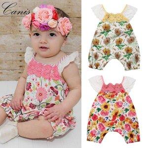 Sunflower Kids Baby Girl Romper Lace Jumpsuit Bodysuit Summer Clothes Sunsuit