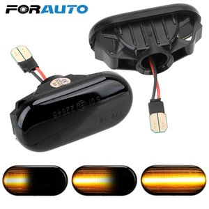 FORAUTO 2PCS LED Car Dynamic Side Marker Blinker Lamp Turn Signal Light For Qashqai Navara Micra 350Z Note Pathfinder