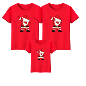 Dabbing Santa Claus Merry Christmas Family Matching Mommy Daddy Daughter Son T-shirt Clothes Mom Dad Kids Baby Outfit