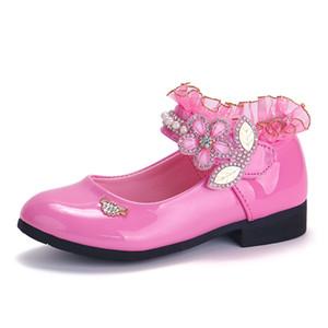 Casual Charol Moda de Skoex niños de la princesa zapatos de encaje Rhinestone danza niñas bajo el talón del zapato de vestir
