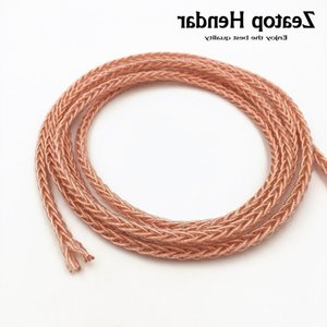 1Pcs Qualitäts-6N 8 Cores Kopfhörer-Kabel Extreme Soft-HIFI DIY Reparatur-Kopfhörer Audio-Draht reiner Einzel Crystal Copper 1.5M 5M