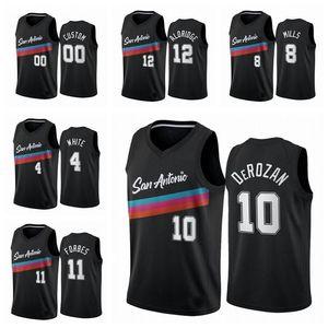 San Men 10 Demar Derozan 12 Lamarcus Aldridge 2020/21 New Arilivals Swingman City Баскетбол Джерси Иконка Edition XS-3XL