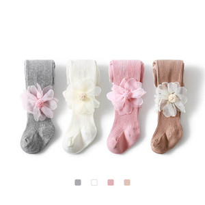 2020 new autumn winter flower girls leggings cotton girls tights kids dance leggings kids tights baby pants girls clothing B2482
