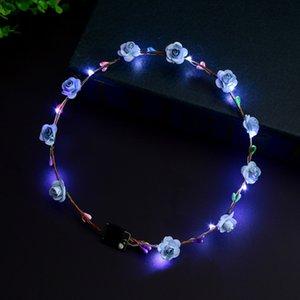 DIEJA LED FELCTING, Línea luminosa, Corona Corolla Luminoso Partido Carnaval Floral Garland Accesorio para el cabello Juguete para niños GWE4330